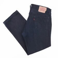 Vintage LEVI'S 501 Regular Straight Fit Men's Black Jeans W36 L28