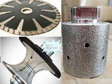 """1/2"""" Full Bullnose Router Bit granite Concrete 2"""" Grinding Drum 5"""" Convex Blade"""