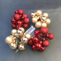 4x 12pc Christmas Bendable Mini Balls Baubles Xmas Ornament Christmas Decoration
