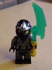 Lego Ninjago Cole Kimono Figur ( schwarz Samurai Kämpfer Anzug Waffe grün ) Neu