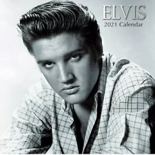 2021 Wall Calendar - Elvis Presley Calendar, 12 x 12 Inch Monthly View, 16-Month