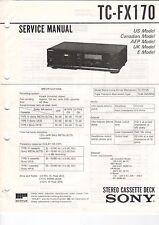 Sony-tc-fx170 - Service Manual grafico-b3187