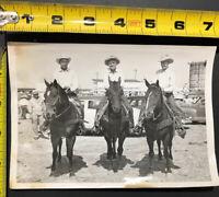 Vintage Photograph Photo Horse Western Cowboy Man Fair Derby Cars 1950's 36