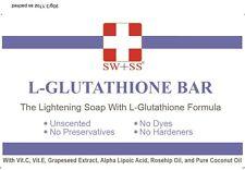SWISS L Glutathione Skin Whitening /Lightening Soap, Buy 3 FREE 1 SW+SS Soap