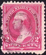 US - 1894 - 2 Cents Carmine George Washington Type 1 Bureau Issue 250 SON Cancel