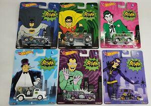 Hot Wheels 1:64 Pop Culture 2015 Set of 6 Batman DC Comics Classic TV Car 1966