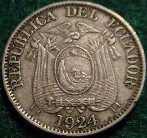 1924 10 CENTAVOS ECUADOR**NICE DETAILED COIN**
