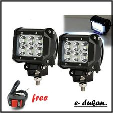 6 CREE LED 18W OFF ROAD/ FLOOD LIGHT BAR FOG LAMP with SWITCH CAR/BIKE