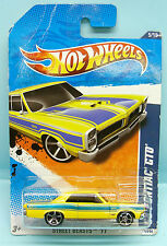 2178 HOT WHEELS / CARTE US / STREET BEASTS 2011 / PONTIAC GTO 1965 1/64