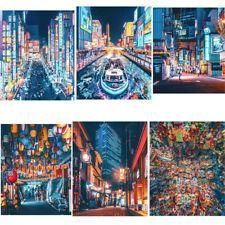 Canvas Print Poster Bedroom Living Room Decor Tokyo Street Neon Nights Pictures