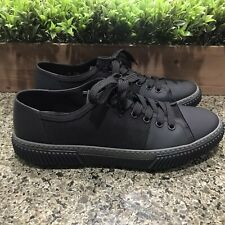 Prada Black/Grey Mesh and Rubber Lace Up Sneakers 4E3058 Men's Size 7.5 Womens 9