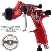 DeVilbiss GTi ProLite RED ALIEN TE20 Lacquer/Gloss Spray Gun 1.3/1.4mm Tip