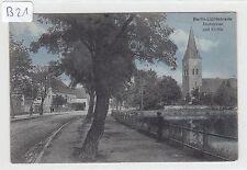 1955, Berlin - Lichtenrade Dorfstraße mit Kirche tolle zart Color Karte FP 1917!