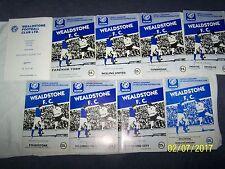9 Football  Programmes ~ 81/82 ~ Wealdstone  v Various Teams