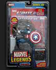 Toy Biz Marvel Legends Ultimate Captain America w/ Book and Card Free shipping