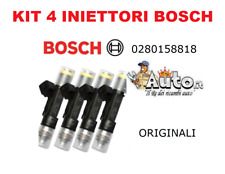 02801588818 INIETTORI BOSCH ORIGINALI FIAT PUNTO EVO 1.4 NATURAL POWER 4 PEZZI