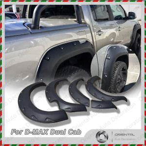 NEW Fender Flares Wheel Guard / Arch Flares for ISUZU D-MAX DMAX Dual Cab 12-15