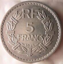 1945 Frankreich 5 Franken - Ausgezeichnete Münze Frankreich bin #10