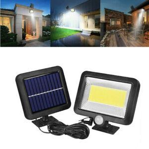 100LED Solarleuchte Solarlampe mit Bewegungsmelder Außen Fluter Sensor Strahler
