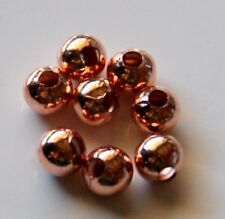 150pcs 6mm Round Metal Iron Spacer Beads - Rose Gold