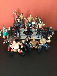 Wwe / Wwf Rare Wrestling Ring / Figure Bundle / Collection X 20 Must See Wow!!