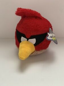 ANGRY BIRDS Commonwealth Space Super Red Plush Stuffed NO SOUND Box 2011 New Tag