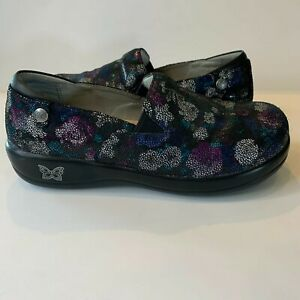 Alegria Women's 38 Keli Professional Black Loafers Clogs Shoes Winter Formal
