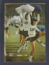 VINTAGE 1966 NFL BALTIMORE COLTS FOOTBALL MEDIA PRESS RADIO GUIDE -JOHNNY UNITAS