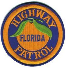 """FLORIDA HIGHWAY PATROL STATE POLICE EMBROIDERED PATCH - IRON-ON -- NEW 3"""""""