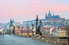 STUNNING PRAGUE SKYLINE CITYSCAPE CANVAS #515 WALL HANGING PICTURE ART A1