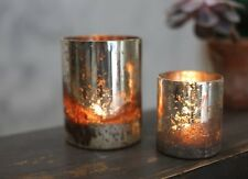 1 Antique Silver Mercury Glass Tea Light Candle Holder Small Wedding Tabia Nkuku