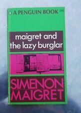Georges Simenon MAIGRET AND THE LAZY BURGLAR Penguin 1st 1966 pb