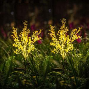 2Pcs Led Solar Rape Flower Lamp Garden Yard Waterproof Decoration Lawn Light