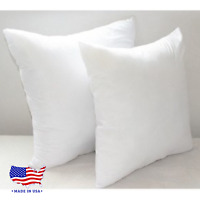 "18 x 18"" Form Insert Cushion Stuffing Throw Pillow Inserts Down Alternative USA"