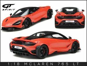 McLaren 765LT 2020 Helios Orange GT327 GT Spirit  1/18 - Précommande Août 2021