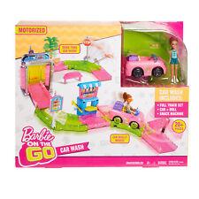 Barbie on the Go Car Wash Track Set Motorized Play Set Dmgd Box
