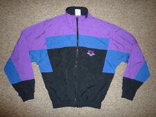 Vtg ARENA Descente Purple/Blue TRACK JACKET Windbreaker Coat Size Women's LARGE