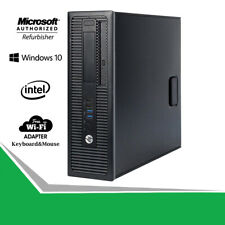 HP Prodesk PC 600G1 SFF Desktop Intel Pentium 3.0GHz 500GB HDD Win WiFi Computer