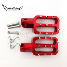 Red Footpegs Rest Pegs For Pit Dirt Bike CRF50 SSR Thumpstar 90 110 125 150cc