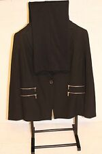 MICHAEL KORS SUIT WOMENS SOLID BLACK OFFICE CAREER PANTS SUIT  SZ 16W  (39X30.5
