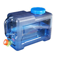12L Outdoor Water Bucket Portable Tank Container with Faucet for Camping #JT1