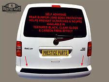 VW Caddy Parachoques Trasero Tira de Protección de Pintura de Borde De Carga-Negro Película Auto Adhesivo
