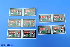 Lego ® (25) sticker (60051) pegatina/vagón/Lok cabina/10 trozo