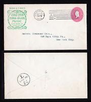 1900 ADVERTISING COVER SYRACUSE NY INTL MACHINE CANCEL ON U362 W/ BACKSTAMP