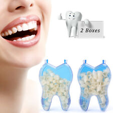 Temporary Porcelain Crown Posterior+Anterior Teeth Caps Molar Resin Dental 2Sets