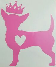 Chihuahua Princess Vinyl Car Decal ***AVAILABLE 20 COLORS***