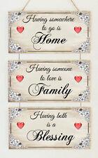 Belle maison de famille plaques bénédiction Amour Mariage Fiançailles Cadeau