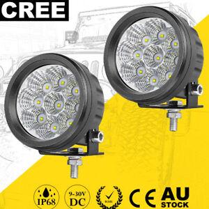 "2x 3.5"" Round LED Driving Spot Lights Pods OffRoad Bumper Bar Work Lamp 4WD 12V"