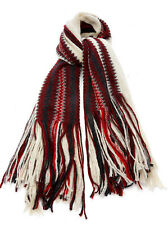 NWT ISABEL MARANT KIMN MOHAIR/WOOL BLEND STRIPE SCARF WRAP RED/IVORY MADE ITALY