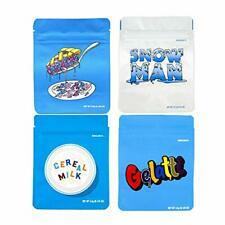 New listing 100 Pcs Mylar Bag Smell Proof Cookies Bag Resealable Heat Seal Ziplock Bags 3.